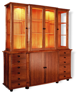 John Comacchio cabinet in blackwood